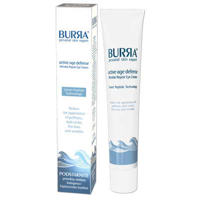 Burra active age defense wrinkle repair eye cream, krem za aktivnu negu regije oko očiju, 20ml