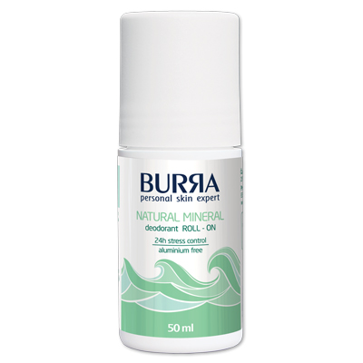 Burra Natural mineral deodorant roll-on 50ml