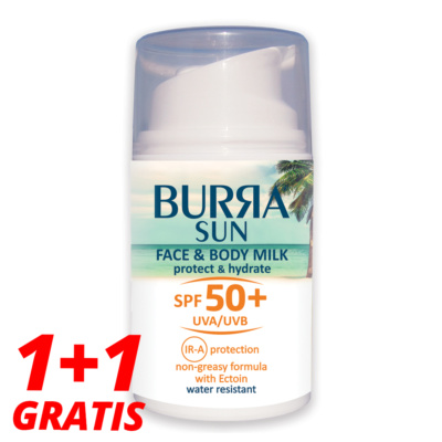 Burra SUN FACE&BODY SPF50+, 50ml