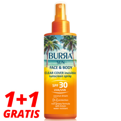 BURRA SUN Face & Body Spray SPF30, 2...