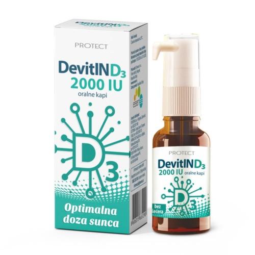Devitin D3 2000IU oralne kapi za odrasle 15ml