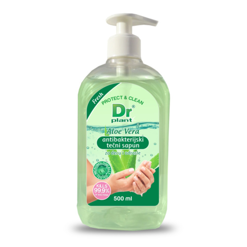 Dr Plant Aloe vera antibacterial liquid soap, 500 ml