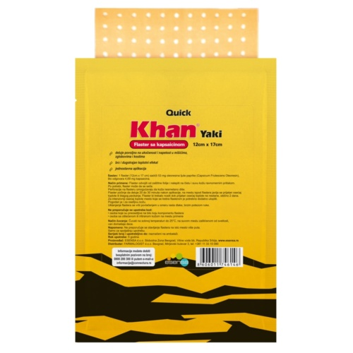 Quick-Khan Yaki adhesive tape with capsaicin
