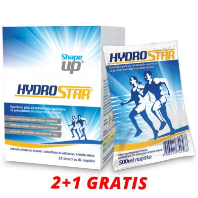 Hydrostar prašak za pripremu napitka za rehidraciju 12 kesica