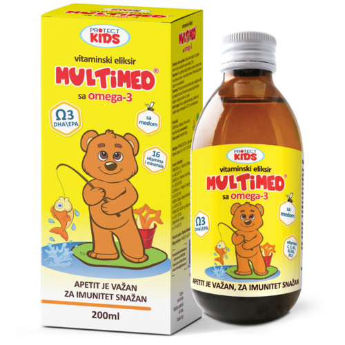 MultiMed vitamin elixir with omega-3