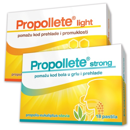 Propollete light and Propollete strong pastilles