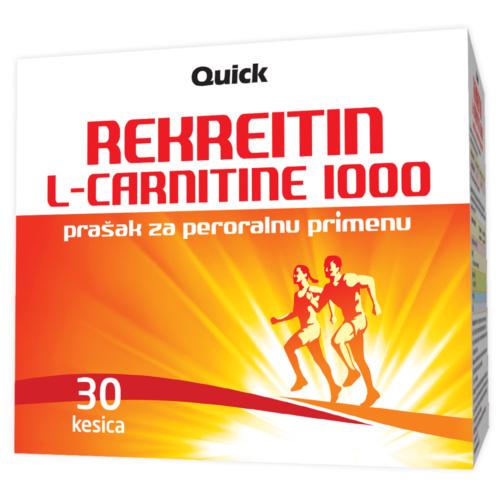 Rekreitin L-carnitine 1000, prašak za peroralnu primenu, 30 kesica