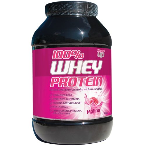 WHEY PROTEIN 100%, RASBERRY TASTE, POWDER 908G