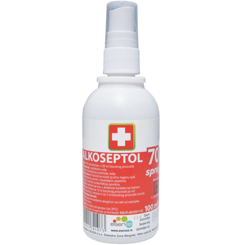 Alkoseptol 70%, sprej rastvor, 100ml