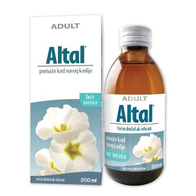 Altal – помага при искашлување и  сува кашлица