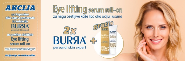 banner akcija burra gratis eye lifting serum