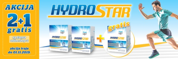 banner akcija hydrostar 2+1 gratis