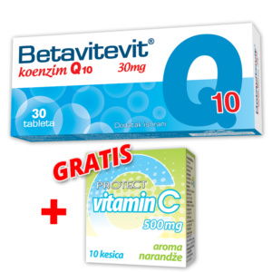 Betavitevit Q10 + Gratis Vitamic C 500mg
