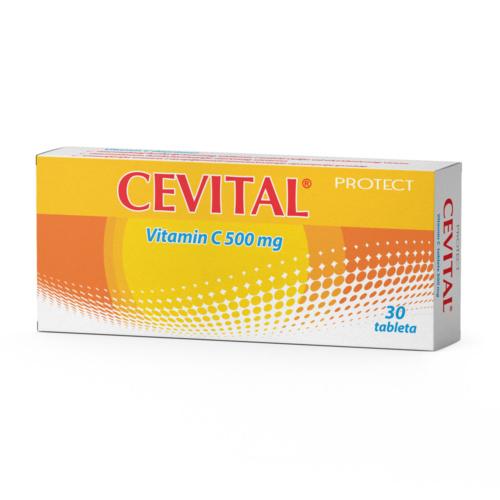 CEVITAL Витамин Ц, 500 mg, 30 таблети