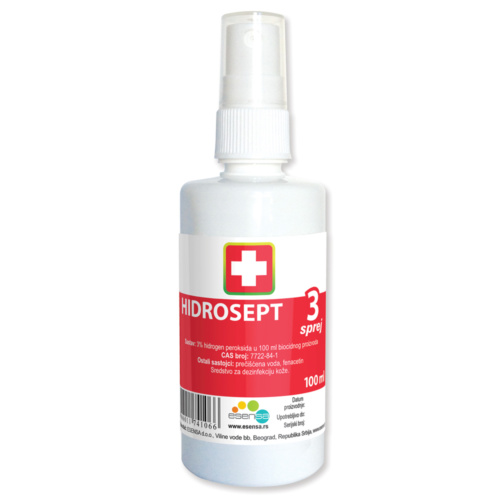 HIDROSEPT 3% SPRAY SOLUTION, 100ML