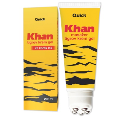 Khan tiger cream gel and Khan tiger massage cream gel