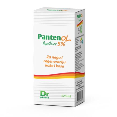 Pantenol rastvor 5% za regeneraciju oštećene kože i kose, 125ml