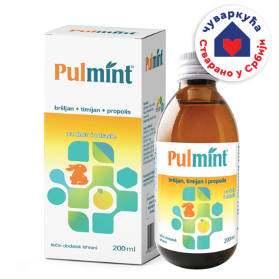 Pulmint, tečni dodatak ishrani, 200ml