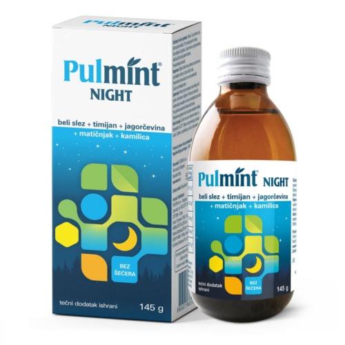 Pulmint Night tdi za smirivanje kašlja 145g