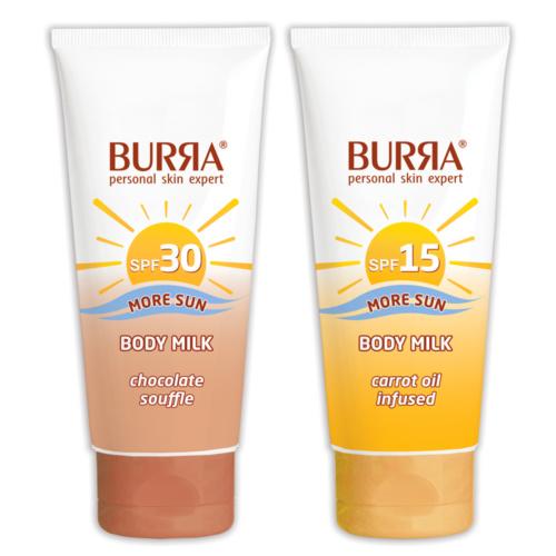 BURЯA Sun Body Milk SPF 15 и BURЯA Sun Body Milk SPF 30