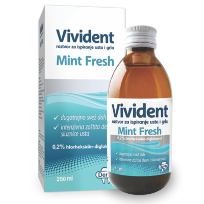 Vivident Mint fresh rastvor za  ispiranj...