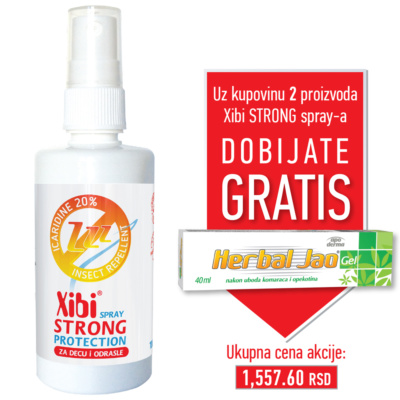 XIBI STRONG PROTECTION IKARIDIN SPRAY, PROTIV UBODA KOMARACA I KRPELJA, 100 ML